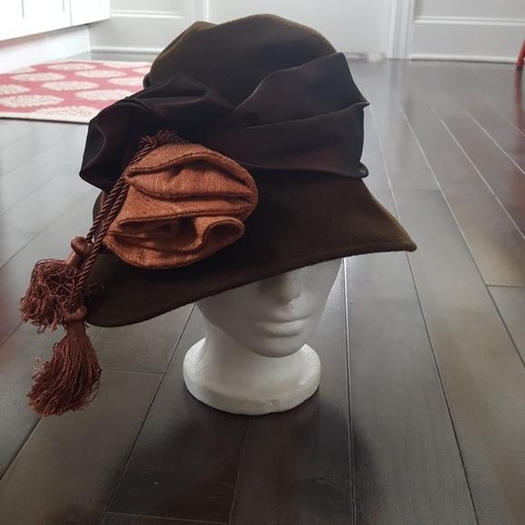 0737d4396 Vintage Artisan Hat in Brown
